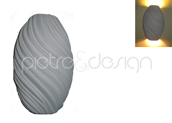 Negozio pietredesign.it appliques applique crema verticale vendita